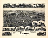 Cairo 1899 Bird's Eye View 24x30, Cairo 1899 Bird's Eye View